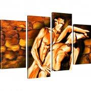 Erotik Bild auf Leinwand 4-Teilig: 100x60 cm | Mehrfarbig