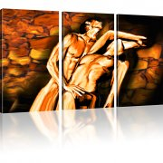 Erotik Bild auf Leinwand 3-Teilig: 105x60 cm | Mehrfarbig