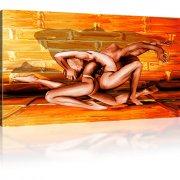 Erotik Man Frau Abstrakt Wandbild auf Leinwand