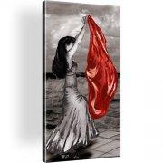 Frau Tanz Bild auf Leinwand