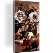 Blumen Rose Retro Leinwandbild
