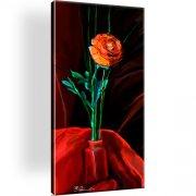 Rose Blume Vase Wandbild