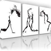 Erotik Abstrakt Wandbild auf Leinwand 3-Teilig: 135x80 cm