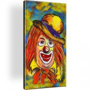 Clown Leinwandbild