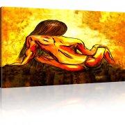 Erotik Frau Wandbild auf Leinwand
