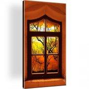 Fenster Landschaft Kunstdruck