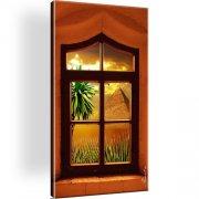 Fenster Landschaft Wandbild