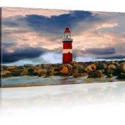 Leuchtturm Meer Sturm Wandbild