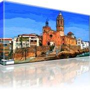 Kirche Spanien Stadt Spanien Leinwandbild