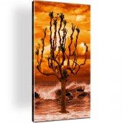Baum Ozean Horizont Wandbild