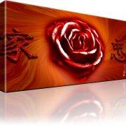 Rose Blume Abstrakt Kunstdruck