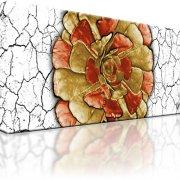Abstrakt Blume Bild auf Leinwand