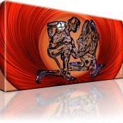 Erotik Abstrakt Wandbild auf Leinwand