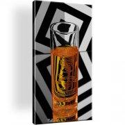 Glass Whiskey Smirnoff Bild auf Leinwand