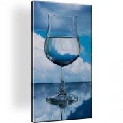 Glass Wein Abstrakt Horizont Bild auf Leinwand
