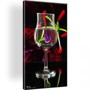 Glass Wein Abstrakt Wandbild