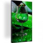 Glass Wein Abstrakt Bild auf Leinwand