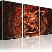 Erotik Abstrakt Kunstdruck 3-Teilig: 135x80 cm