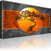 Bonsai Baum Abstrakt Wandbild