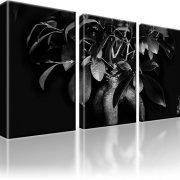 Bonsai Baum Bild auf Leinwand 3-Teilig: 105x60 cm | Schwarz-weiss