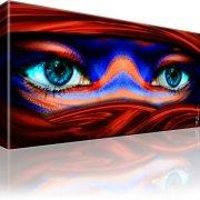 Tuareg Augen Wandbild 1-Teilig: 100x55 cm