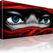 Tuareg Augen Bild auf Leinwand