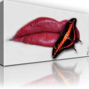 Lippen Schmetterling Wandbild