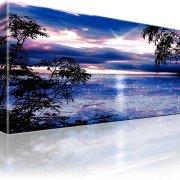 Sonnenuntergang Ozean Horizont Wandbild auf Leinwand