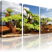 Pflanze Landschaft Wandbild 3-Teilig: 165x100 cm
