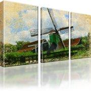 Windmühle Wandbild 3-Teilig: 135x80 cm
