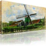 Windmühle Wandbild