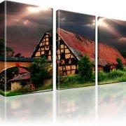 Haus Sturm Kunstdruck 3-Teilig: 135x80 cm