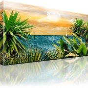 Horizont Ozean Palmebn Wandbild auf Leinwand
