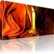 Kerze Tuch Wandbild