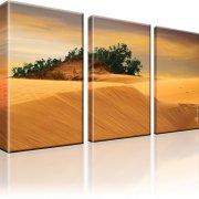 Dünen Kanarische Insel Maspalomas Bild auf Leinwand 3-Teilig: 105x60 cm