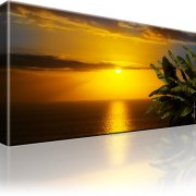 Horizont Sonnenuntergang Atlantik Leinwandbild