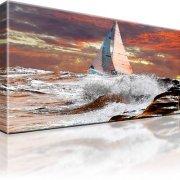 Ozean Atlantik Segler Bot Sturm Wandbild