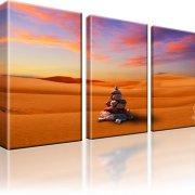 Dünen Kanarische Insel Maspalomas Wandbild auf Leinwand 3-Teilig: 105x60 cm