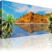 Berg Palmen Ozean Wandbild