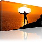 Sonnenuntergang Mann Ozean Bild auf Leinwand