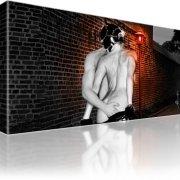 Erotik Rotes Licht Wandbild auf Leinwand 1-Teilig: 100x55 cm