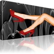 Sexy Beine Rote Schuhe Wandbild