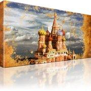 Basilius-Kathedrale Moskau Wandbild auf Leinwand