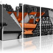 Bamberg Haus Dach Leinwandbild 3-Teilig: 165x100 cm