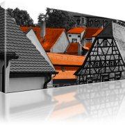 Bamberg Haus Dach Leinwandbild