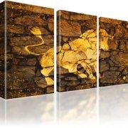 Stier Stierkampf Corrida Kunstdruck 3-Teilig: 105x60 cm | Gold