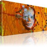 Maske Gesicht Abstrakt Bild auf Leinwand