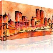 Golden Bridge New York Manhattan Wandbild
