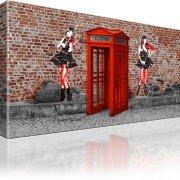 Graffiti Wall Art Wand Kunst Telefonzelle Wandbild auf Leinwand