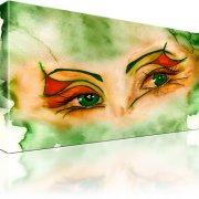 Augen Abstrakt Aquarell Wandbild